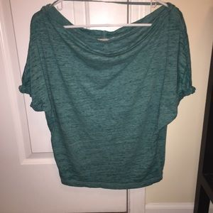 We the free heather green off the shoulder top